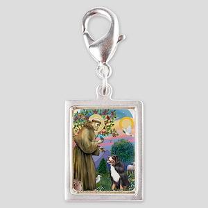 St Francis 2B-Bernese Mounta Silver Portrait Charm