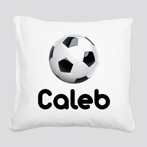 Soccer Caleb Square Canvas Pillow