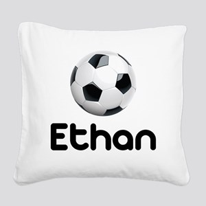 Soccer Ethan Square Canvas Pillow