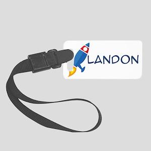 Landon Rocket Ship Small Luggage Tag