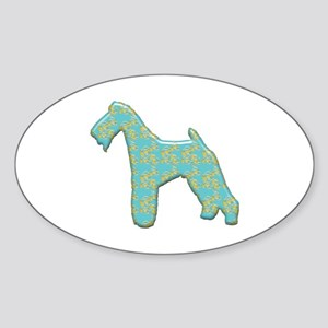Paisley Terrier Oval Sticker