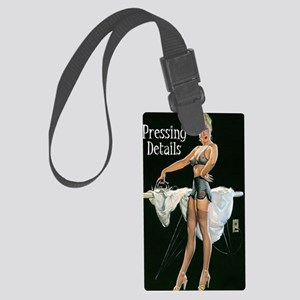 pressing details journal Large Luggage Tag