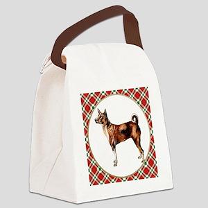 RDORN-basenji-christmas Canvas Lunch Bag
