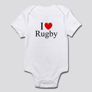 """I Love (Heart) Rugby"" Infant Bodysuit"