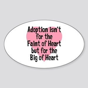 BIG OF HEART Oval Sticker