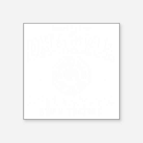 "Prop Swan -dk Square Sticker 3"" x 3"""