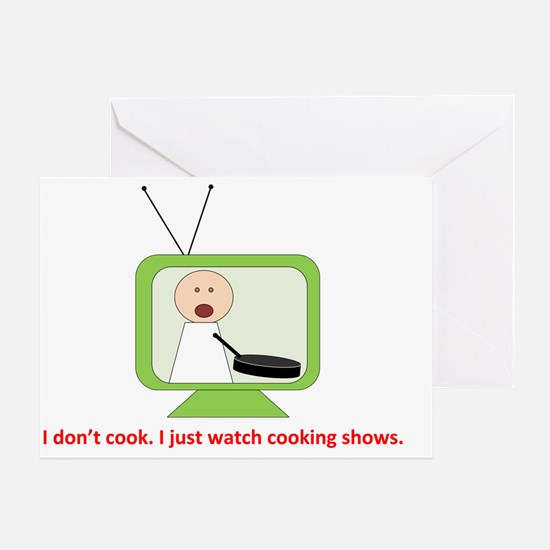 CookingShows copy Greeting Card