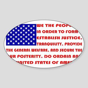 Preamble Flag Sticker (Oval)