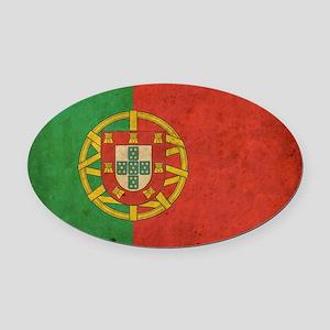 vintagePortugal3 Oval Car Magnet