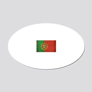 vintagePortugal3 20x12 Oval Wall Decal