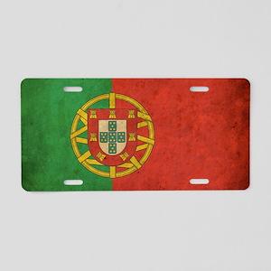 vintagePortugal3 Aluminum License Plate