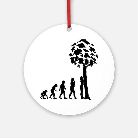 Tree Hugger Round Ornament