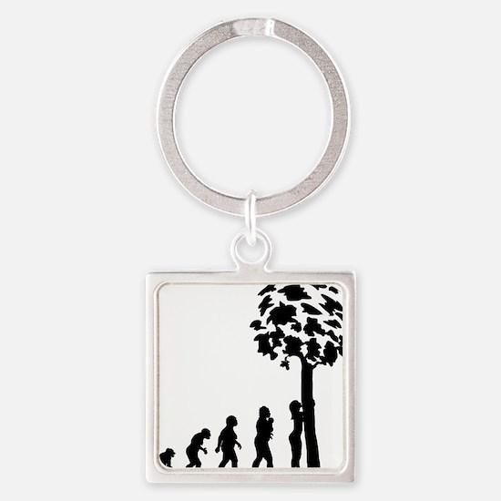 Tree Hugger Square Keychain