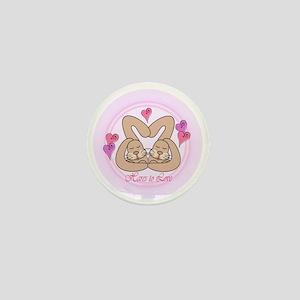 Hare Love Keepsake Mini Button