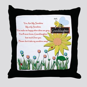 You Are My Sunshine Grandaughter Throw Pillow