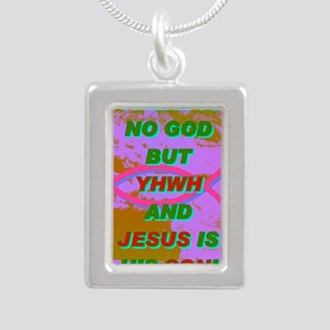 19-THERE IS NO GOD BUT Y Silver Portrait Necklace