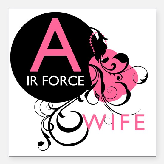"InitialLadyLikeAirForceW Square Car Magnet 3"" x 3"""