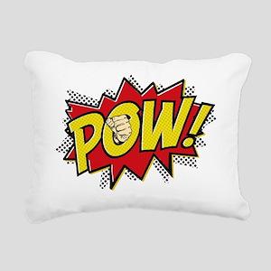 2-Pow 2 Rectangular Canvas Pillow