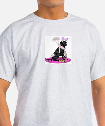 Black Lab Easter Ash Grey T-Shirt
