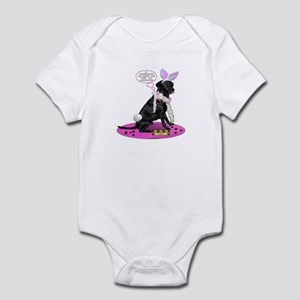 Black Lab Easter Infant Bodysuit