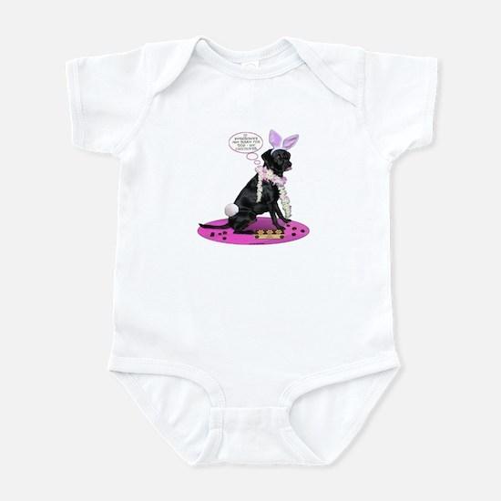 Black Lab Easter Infant Bodysuit