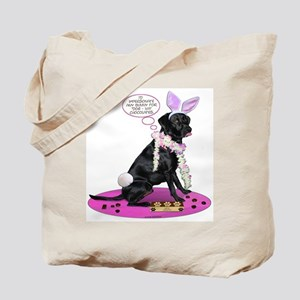 Black Lab Easter Tote Bag