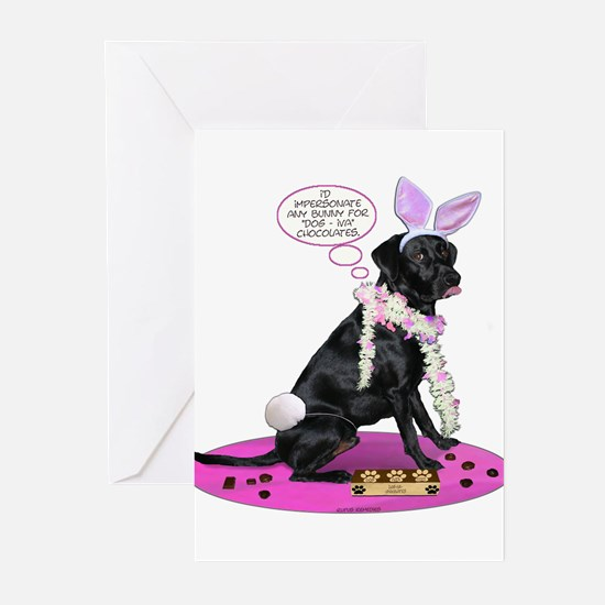 Black Lab Easter Greeting Cards (Pk of 10)