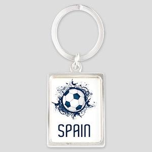 Spain Football2 Portrait Keychain