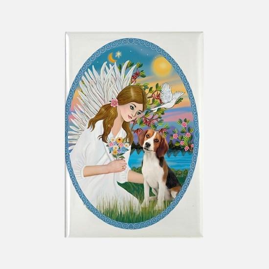 Angel Love - Beagle 1 Rectangle Magnet