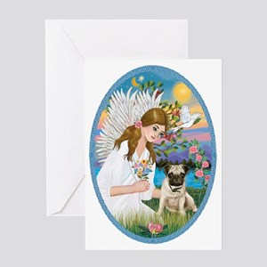 Angel Love - Pug Pup Greeting Card