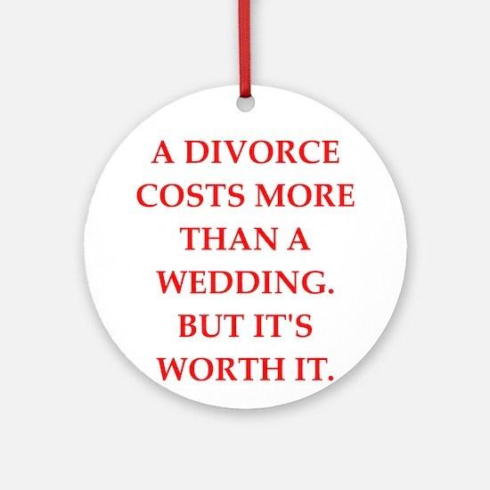divorce Ornament (Round)