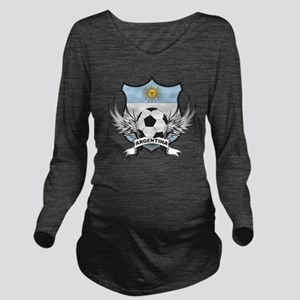 2-argentina Long Sleeve Maternity T-Shirt