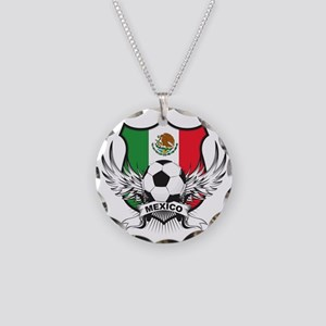 mexico Necklace Circle Charm