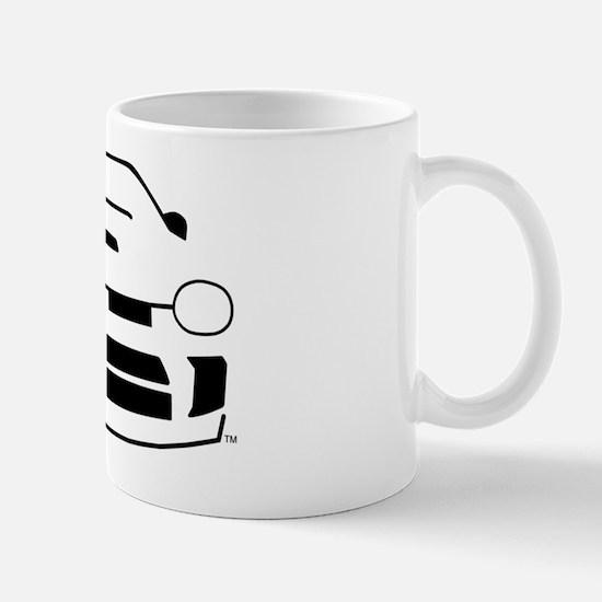 line_drawing-neon_black Mug