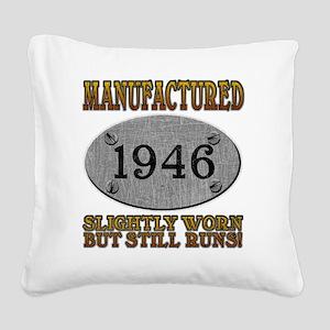 1946 Square Canvas Pillow