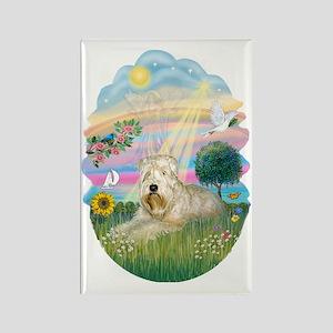 Angel Star - Wheaten Terrier #1 Rectangle Magnet