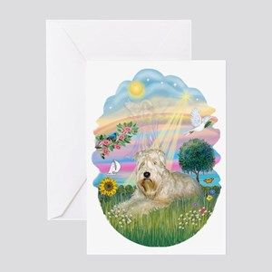 Angel Star - Wheaten Terrier #1 Greeting Card