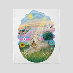 Angel Star - Wheaten Terrier #1 Throw Blanket