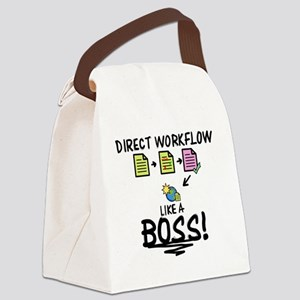 LIKE A BOSS - Direct Workflow Canvas Lunch Bag