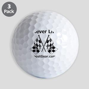 Never Lift - White Shirt - BoostGear Golf Balls