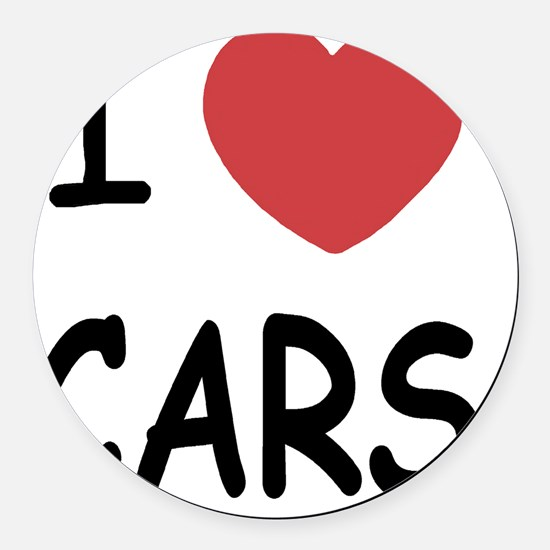 LOVECARS_01 Round Car Magnet