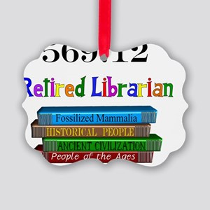 Retired Librarian 569.12 Picture Ornament