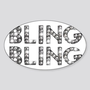 bling-bling-tee Sticker (Oval)