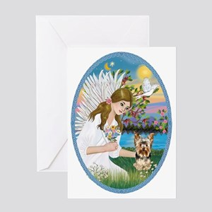 Angel Love - Yorkshire Terrier #17 Greeting Card