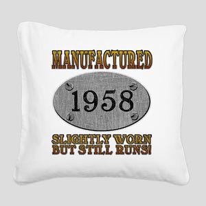 1958 Square Canvas Pillow
