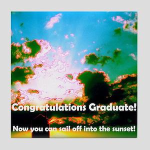clouds  graduate dsc00007 crop hig Tile Coaster