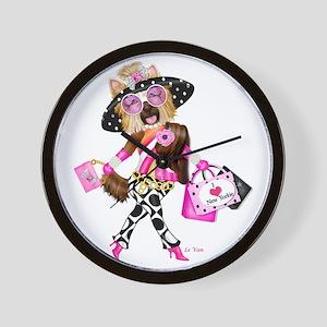 I Love New Yorkie Wall Clock
