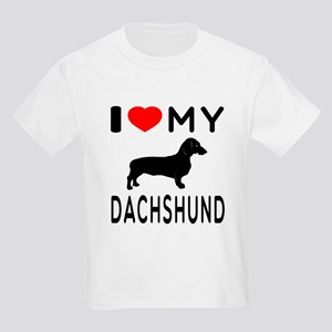 I Love My Dachshund Kids Light T-Shirt