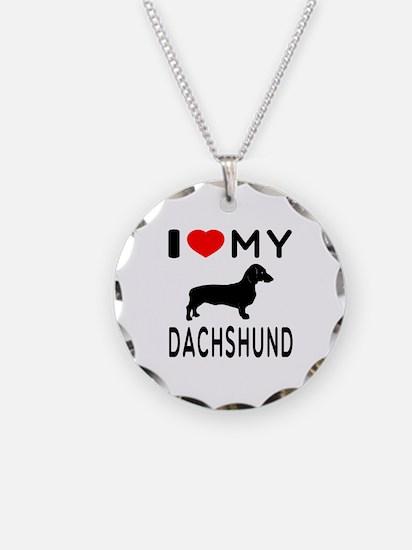 I Love My Dachshund Necklace