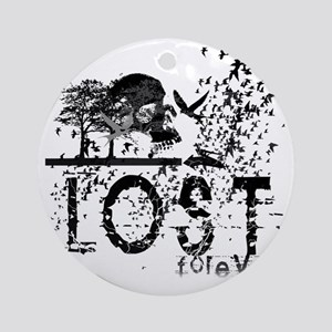 lost forever new version with white Round Ornament
